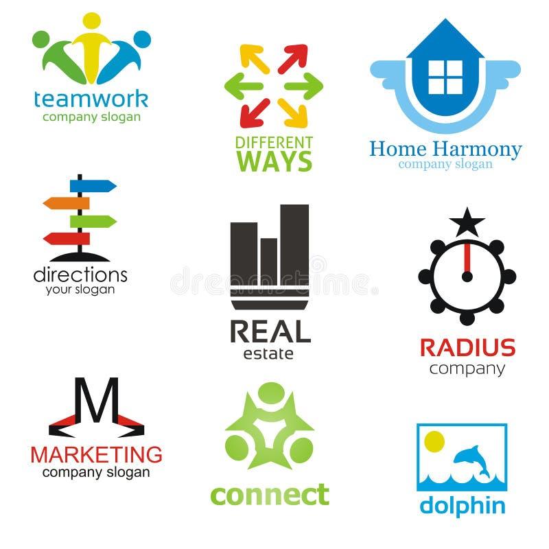 logotype πρότυπα πακέτων διανυσματική απεικόνιση