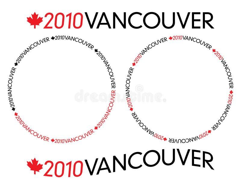 Logotype 2010 de Vancôver ilustração royalty free