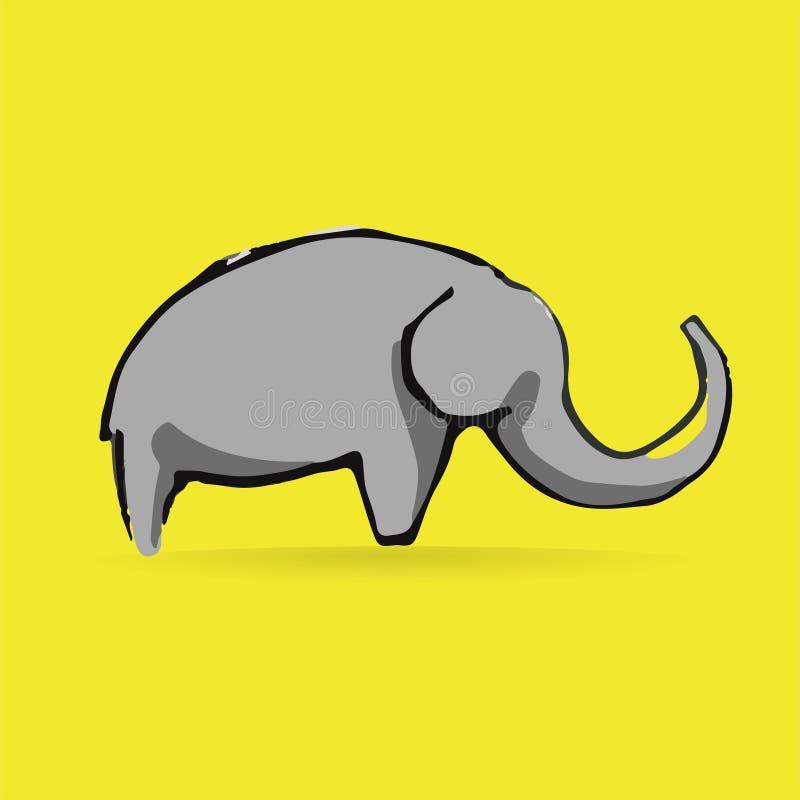 Logotype abstrait d'éléphant de vecteur d'isolement dessus illustration de vecteur