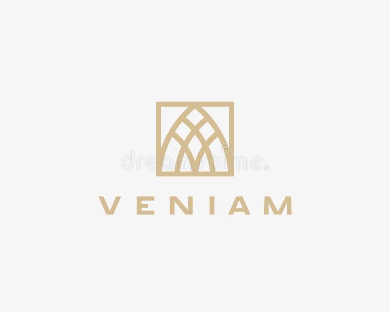 Logotype astratto di affari della lettera A di base Segno premio di idea di finanza del bene immobile royalty illustrazione gratis
