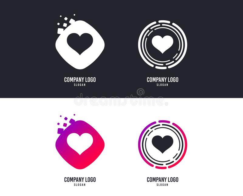 Love icon. Heart sign symbol. Vector. Logotype concept. Love icon. Heart sign symbol. Logo design. Colorful buttons with icons. Vector stock illustration