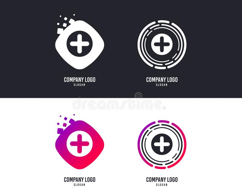 Plus sign icon. Positive symbol. Vector vector illustration