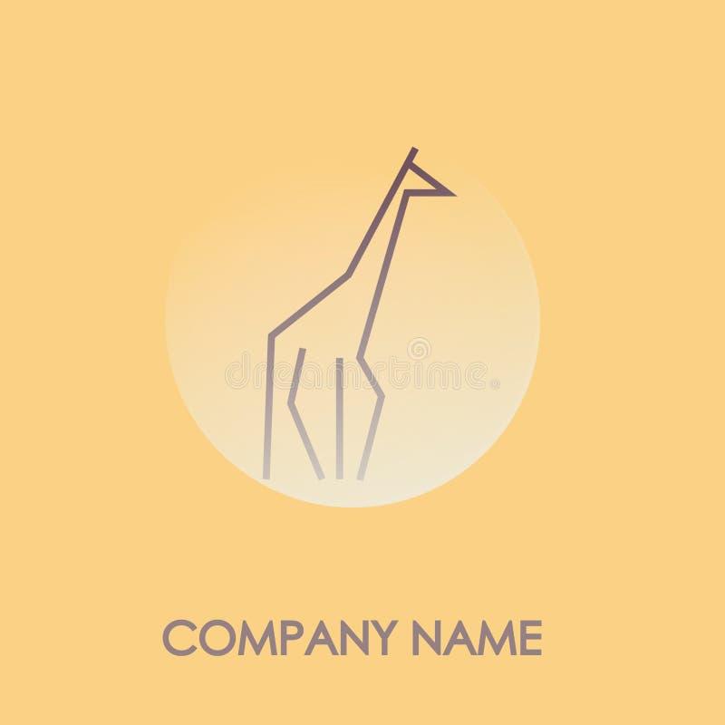 Logotype creativo della giraffa immagine stock