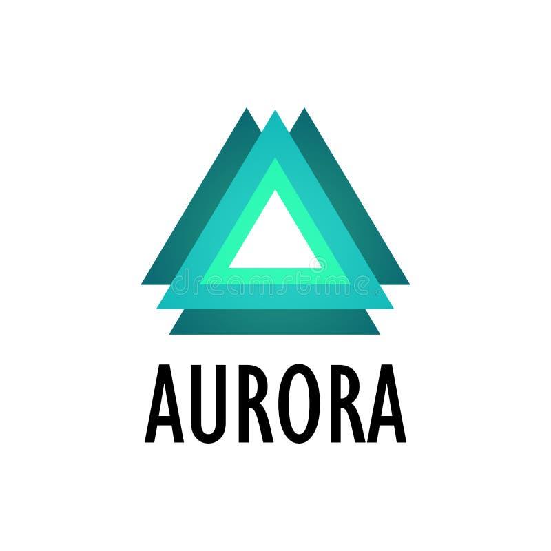 Logotype da Aurora, aurora boreal ilustração do vetor