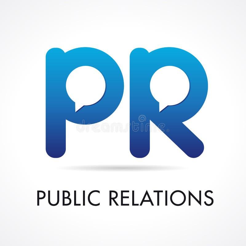 Logotype da empresa do PR das relações públicas ilustração royalty free