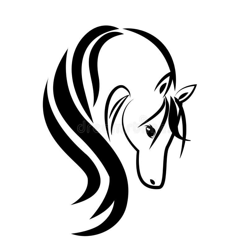 Logotype da imagem da etiqueta do símbolo do carteira de identidade do vetor do logotipo do ícone do símbolo do cavalo da beleza ilustração royalty free