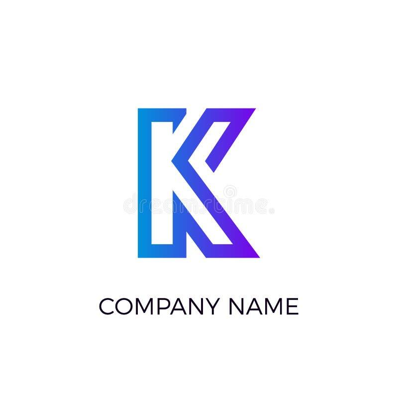 Logotype da letra Logotipo azul liso de Minimalistic Ilustração do vetor isolada no fundo branco ilustração royalty free