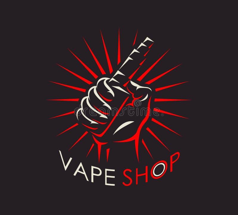 Logotype da loja de Vape ilustração royalty free