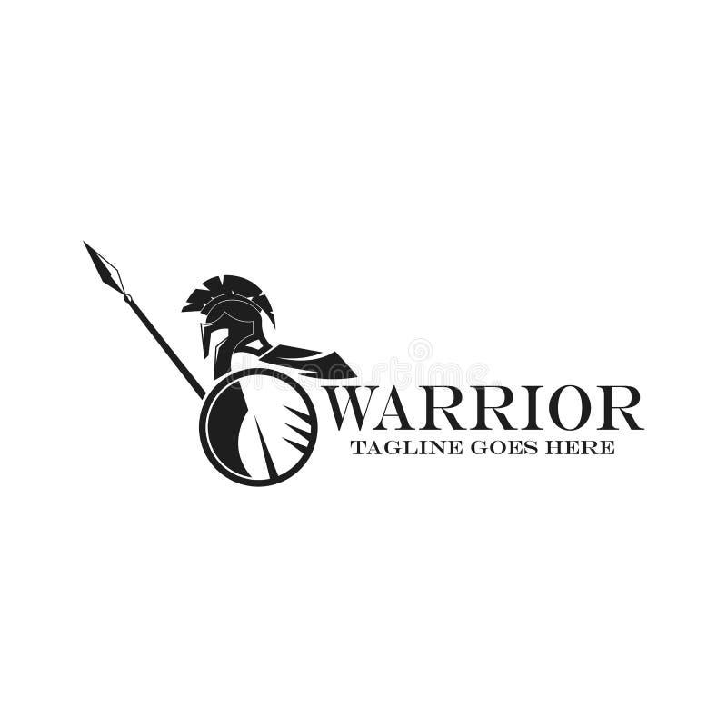 Logotype de guerrier illustration stock