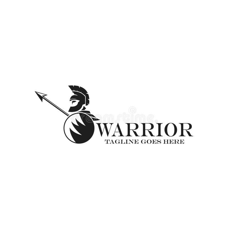 Logotype de guerrier illustration de vecteur