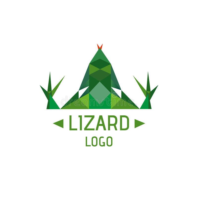 Logotype de lézard photos stock