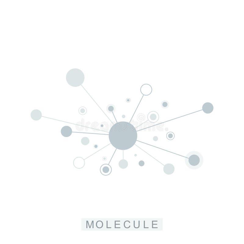 Logotype de la g?n?tique de la science d'ic?ne de calibre de logo de mol?cule, h?lice d'ADN Analyse g?n?tique, ADN biotechnologiq illustration stock