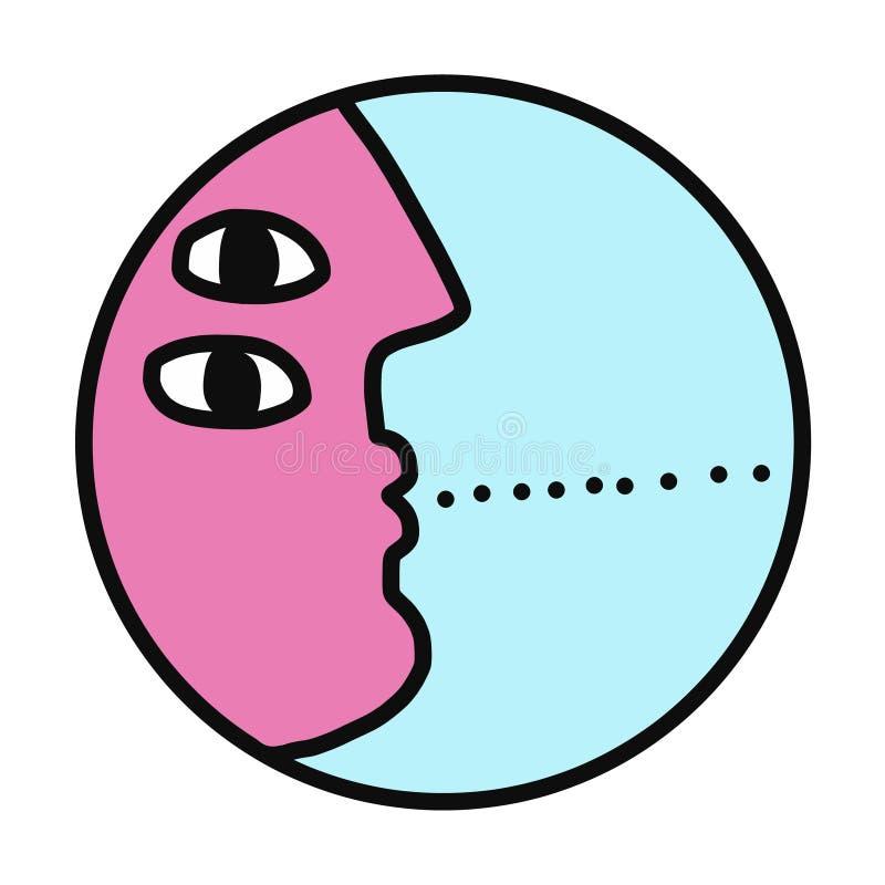 Logotype de logo de dialogue pour le discours de consultation de psychothérapie de psychologie parlant rencontrant la conversatio illustration libre de droits