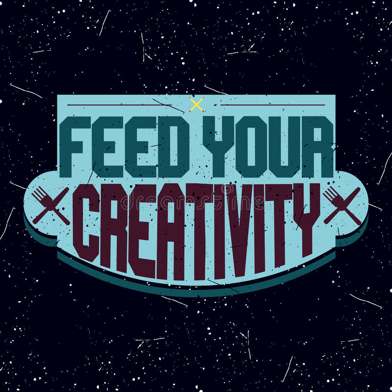 Logotype de motivation de colorfull de vintage photographie stock libre de droits