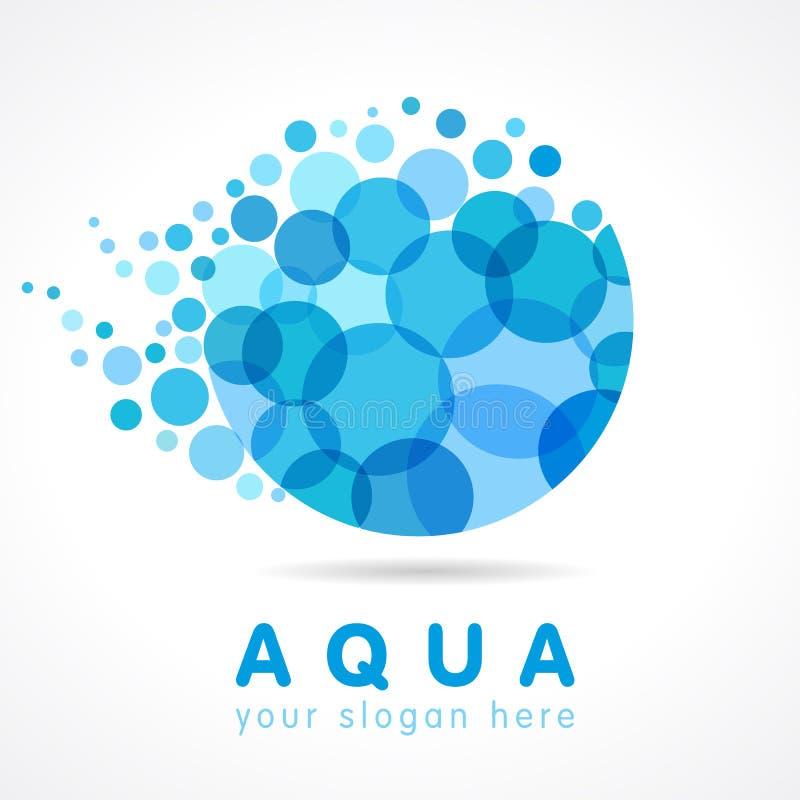 Logotype de société d'eau illustration de vecteur