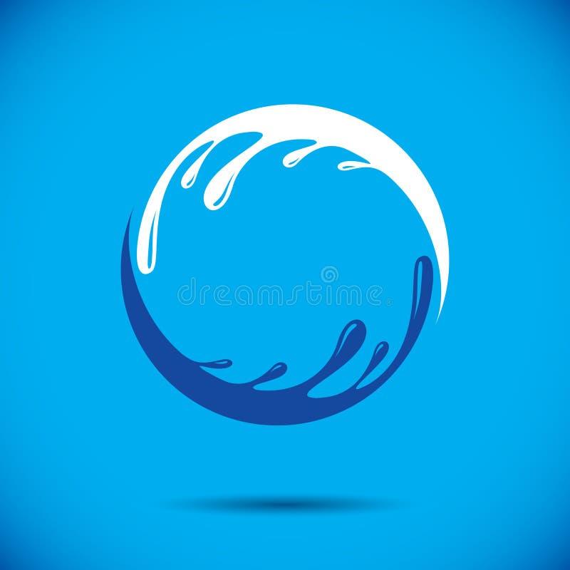 Logotype de vecteur de thème de fraîcheur d'océan Publicité de jour de l'eau illustration libre de droits