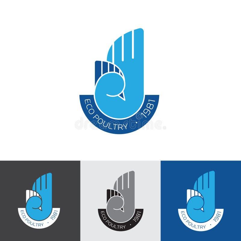 Logotype de volaille illustration de vecteur
