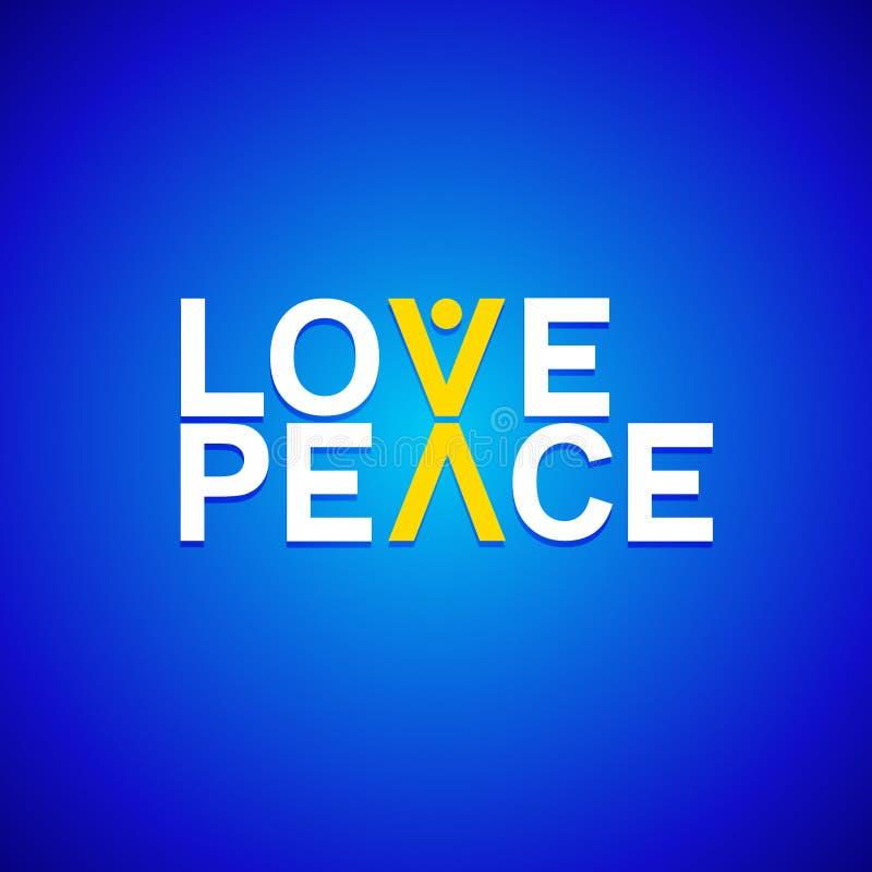 Logotype del segno di pace e di amore royalty illustrazione gratis