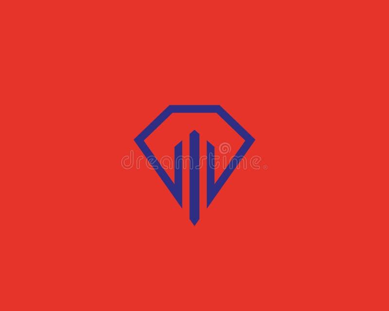 Logotype della casa allineato forma del diamante Logo premio di vettore del bene immobile illustrazione vettoriale