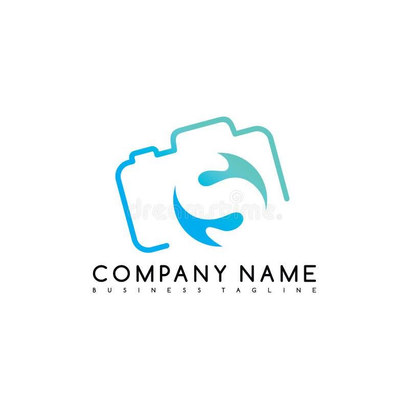 logotype do logotipo do molde da empresa do tipo da fotografia da câmera ilustração do vetor