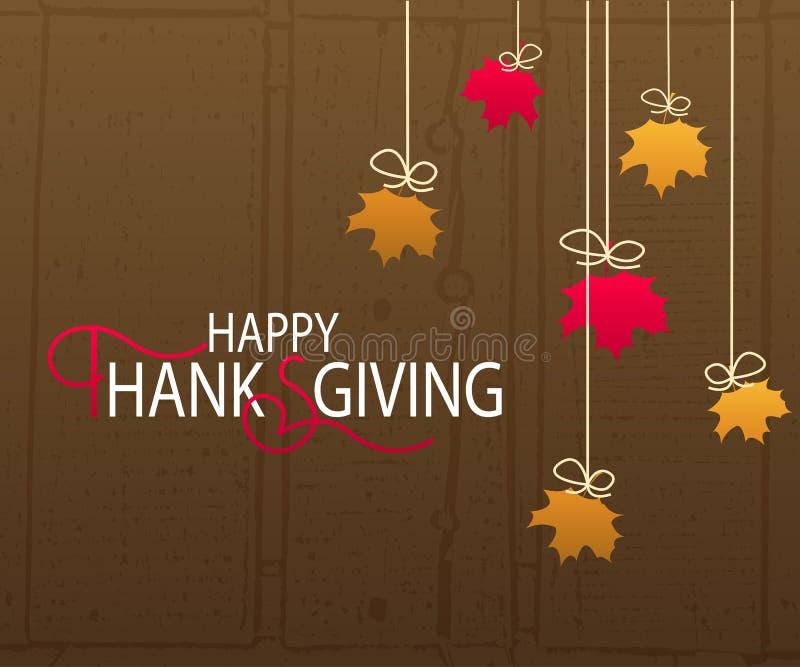 Logotype heureux de jour de thanksgiving illustration libre de droits