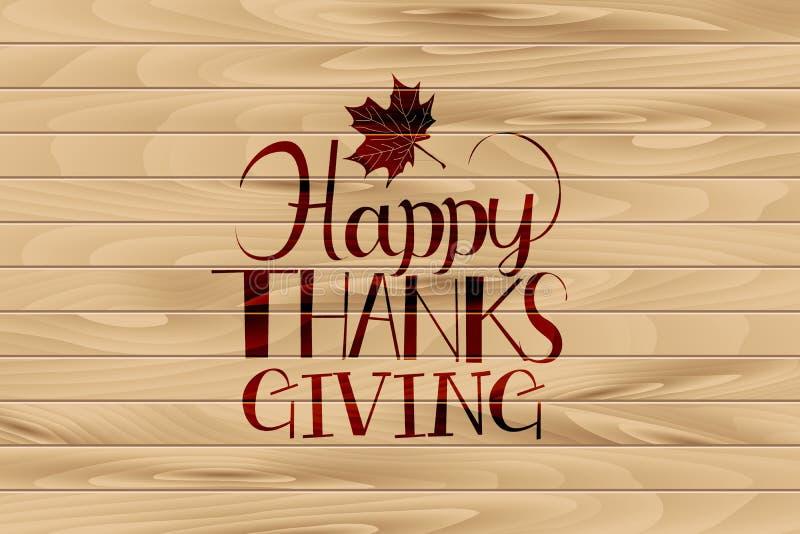 Logotype heureux de jour de thanksgiving, illustration stock