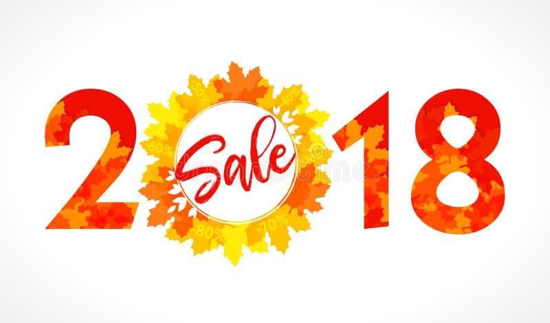 Logotype 2018 heureux de vente illustration stock