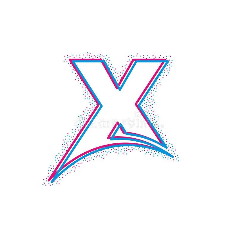 logotype initial de calibre de logo de marque de lettre de lampe au néon illustration de vecteur