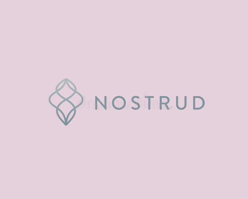 Logotype linéaire de la meilleure qualité abstrait de vecteur Symbole de logo d'écoulement de vague de mouvement illustration stock