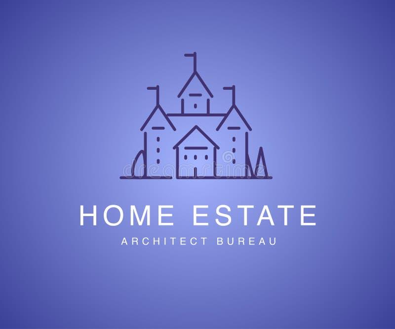 Logotype liso do departamento do arquiteto do vetor isolado ilustração do vetor