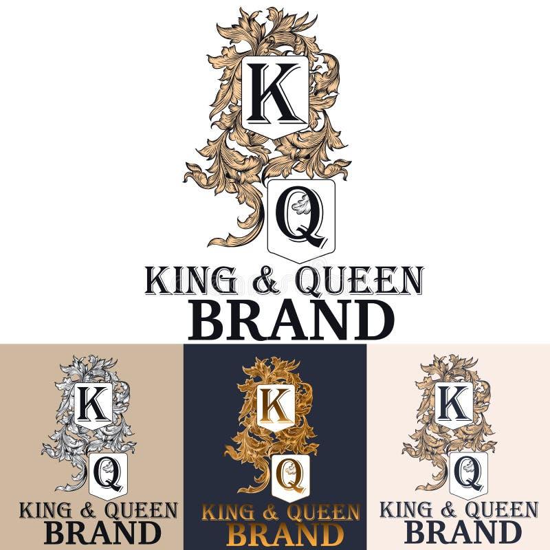 Logotype of monogram voor boutique, merk, menu, etiket of kenteken t stock illustratie