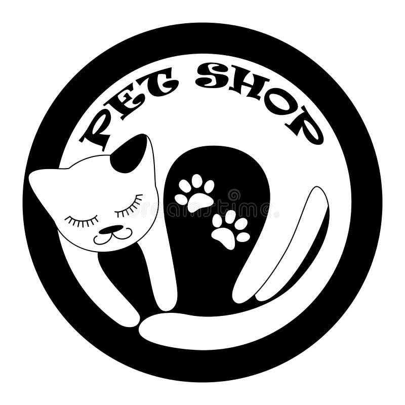 Logotype per il negozio del veterinario illustrazione di stock