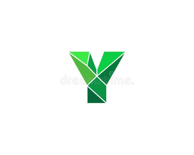 Logotype polygonal de la lettre y de tendance Logo de vecteur de couleur Symbole universel d'élément de police de segment illustration de vecteur