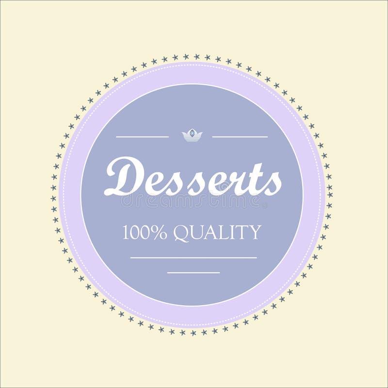 Logotype pour des bonbons illustration libre de droits