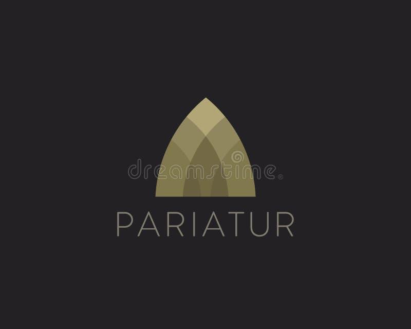 Logotype premio di idea di finanza del bene immobile Arco universale di colore, appartamento, casa, logo domestico illustrazione vettoriale