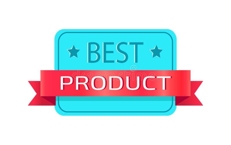Logotype rettangolare promozionale del migliore prodotto illustrazione di stock
