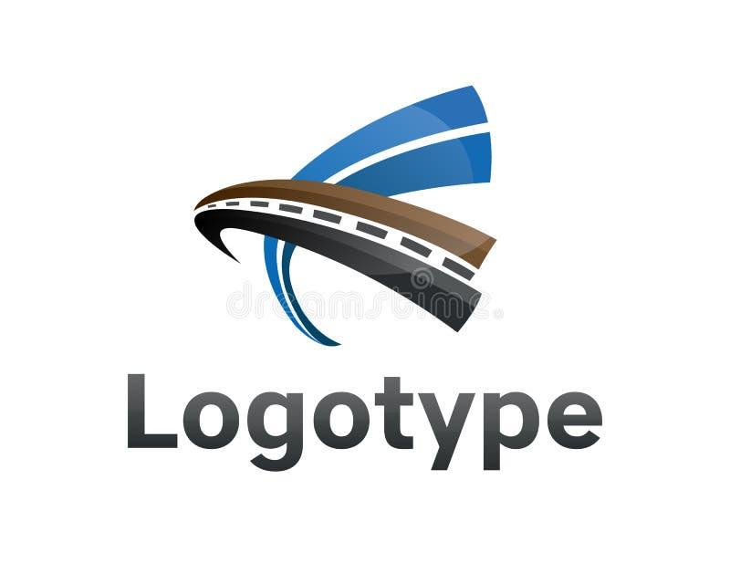 Logotype transportation,road. royalty free illustration