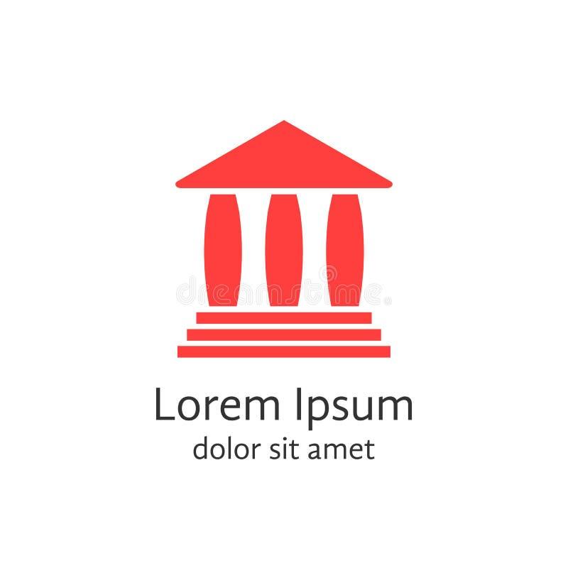 Logotype vermelho da casa de operação bancária ilustração do vetor