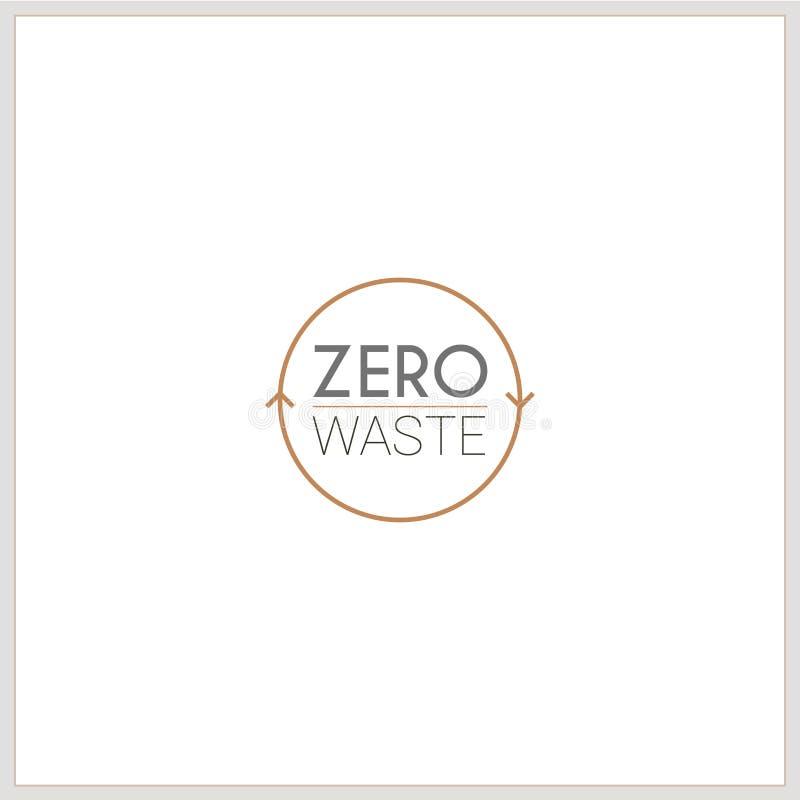 Logotype zero do desperdício ilustração royalty free