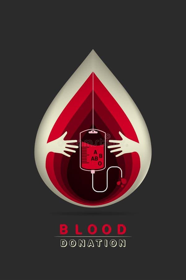 Logotypebloeddonatie royalty-vrije illustratie