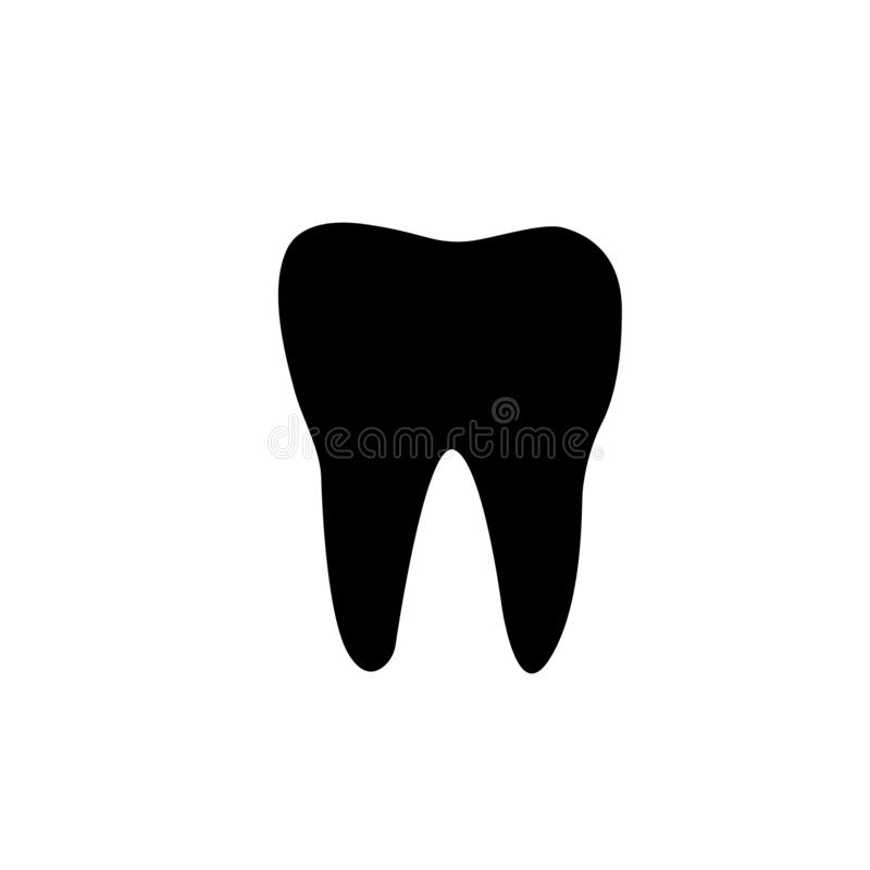 Logotypeconcept Het pictogram van de Parodontosistand Tandvleesontstekingteken Ontsteking van gommensymbool Zonnepaneel en teken  stock illustratie