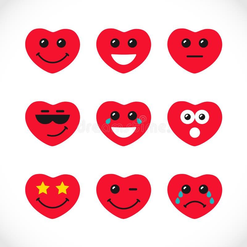 Logotypes colorati sorridente illustrazione di stock