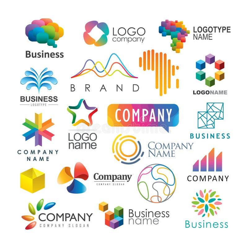 Logotypes coloridos ilustração do vetor
