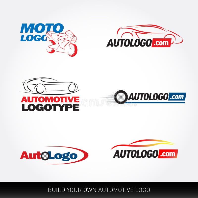 Logotypes de voiture - service de voiture et réparation, ensemble Logo de voiture illustration libre de droits