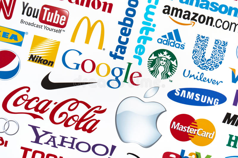 Logotypes do tipo do mundo foto de stock royalty free
