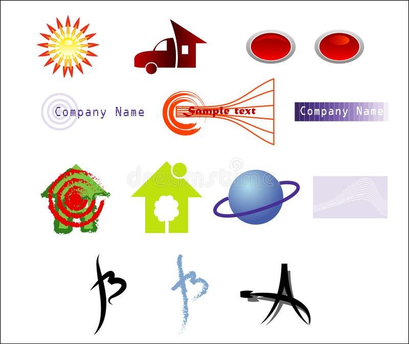 logotypmodellvektor arkivfoton