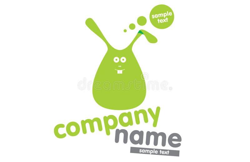 logotypu zielony królik ilustracja wektor