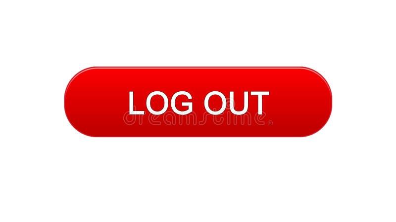 Logout a cor vermelha do botão da relação da Web, projeto da página de Internet, aplicação ilustração royalty free