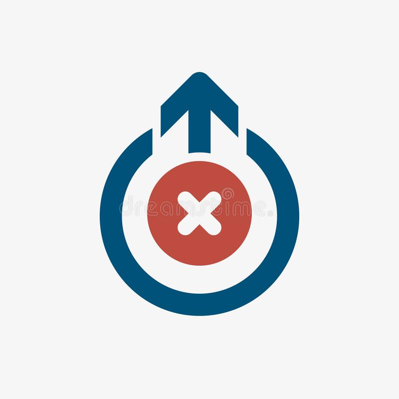 Logout icon, signs icon with cancel sign. Logout icon and close, delete, remove symbol. Vector illustration royalty free illustration