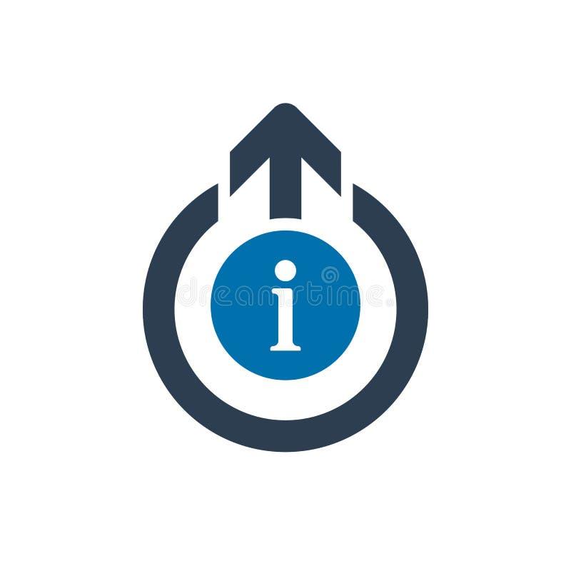 Logout o ícone, ícone dos sinais com sinal da informação Logout o ícone e aproximadamente, FAQ, ajuda, símbolo da sugestão ilustração do vetor